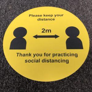Social Distancing Vinyl Dot